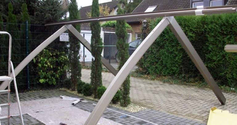 Carport Aufbau der aufbau rupp metalltrend